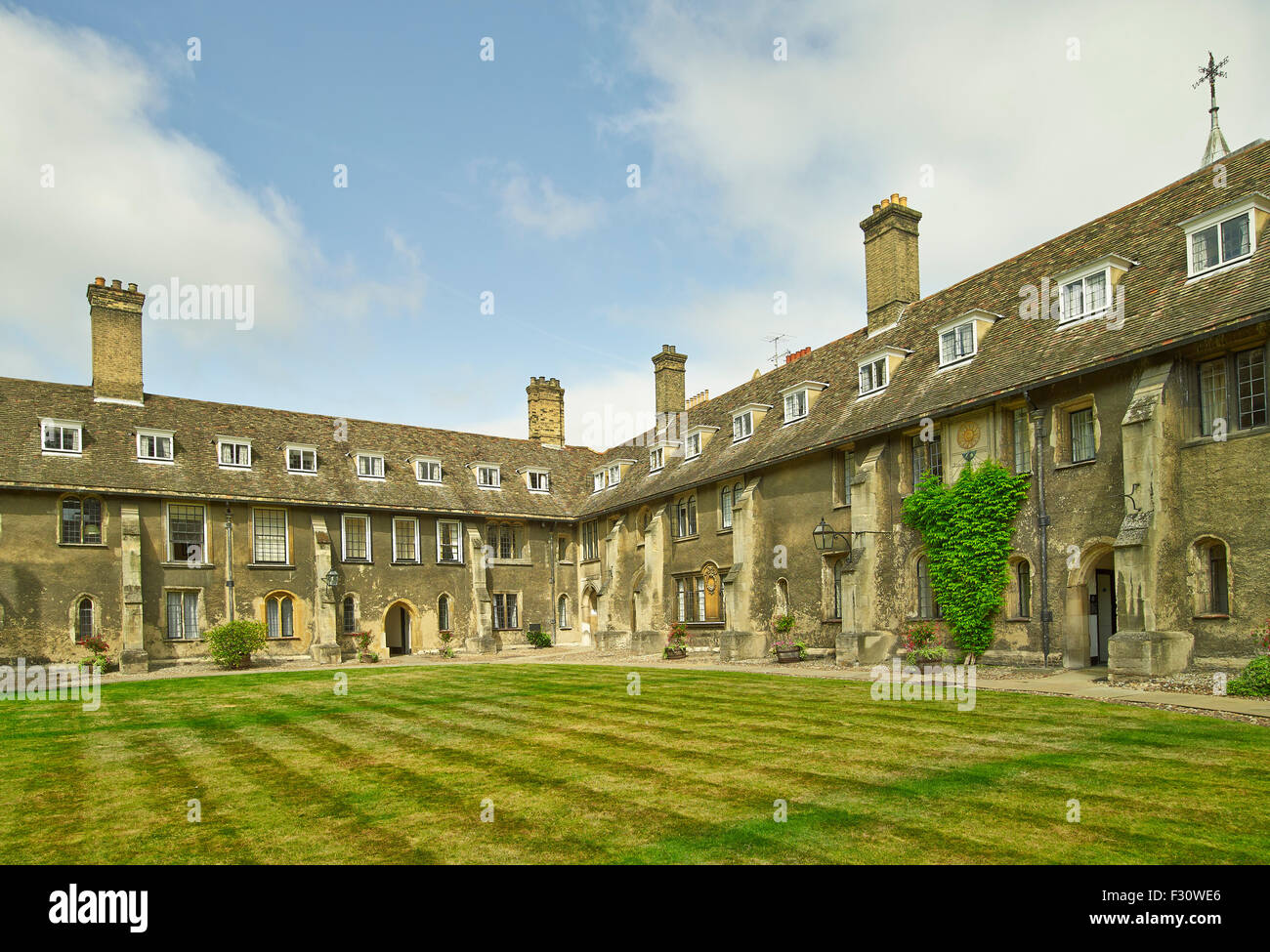 Cambridge, Corpus Christi College, Old Court - Stock Image