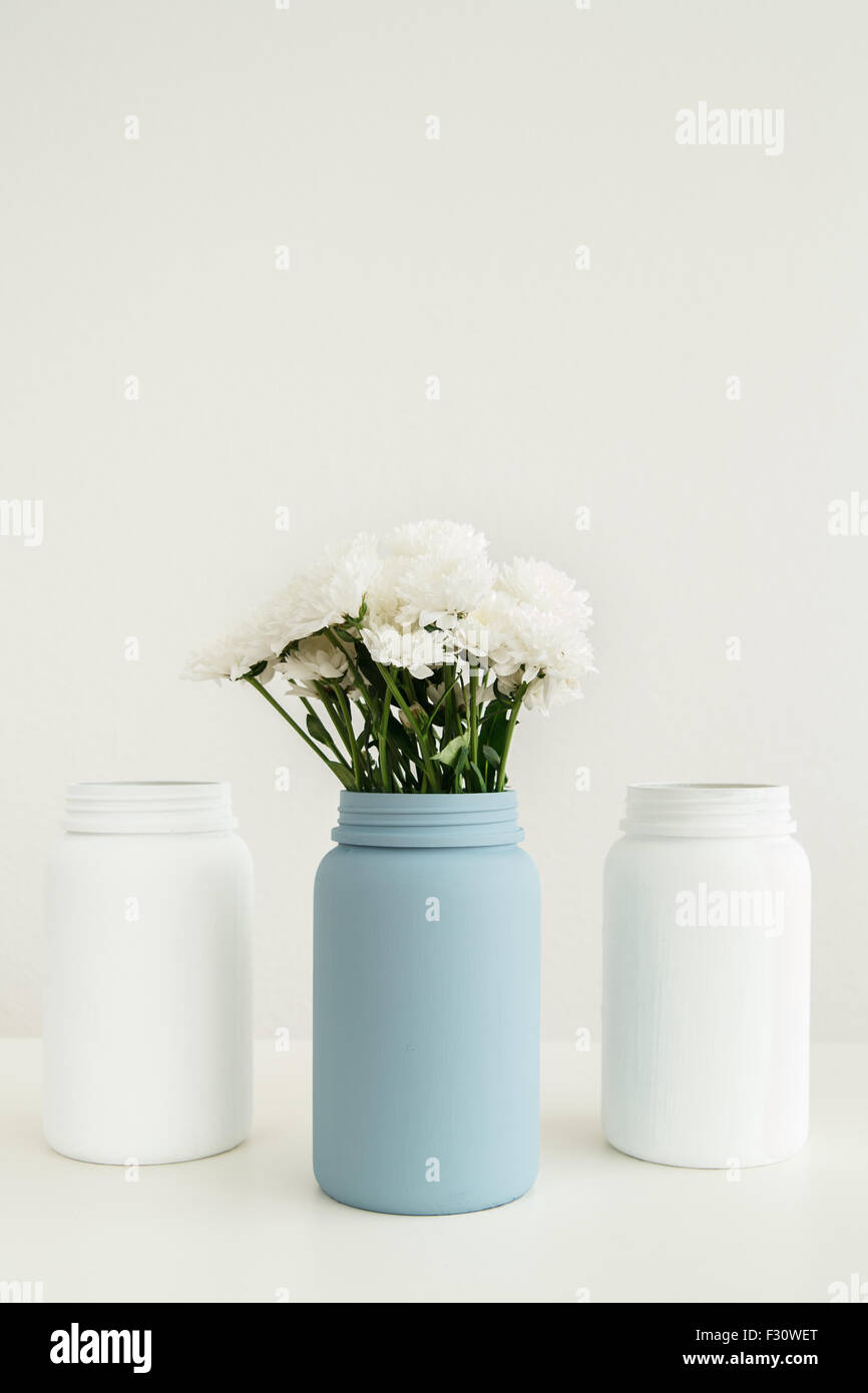DIY upcycling project - Stock Image