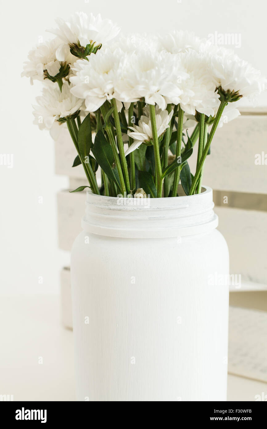 Upcycled jar and box - Stock Image
