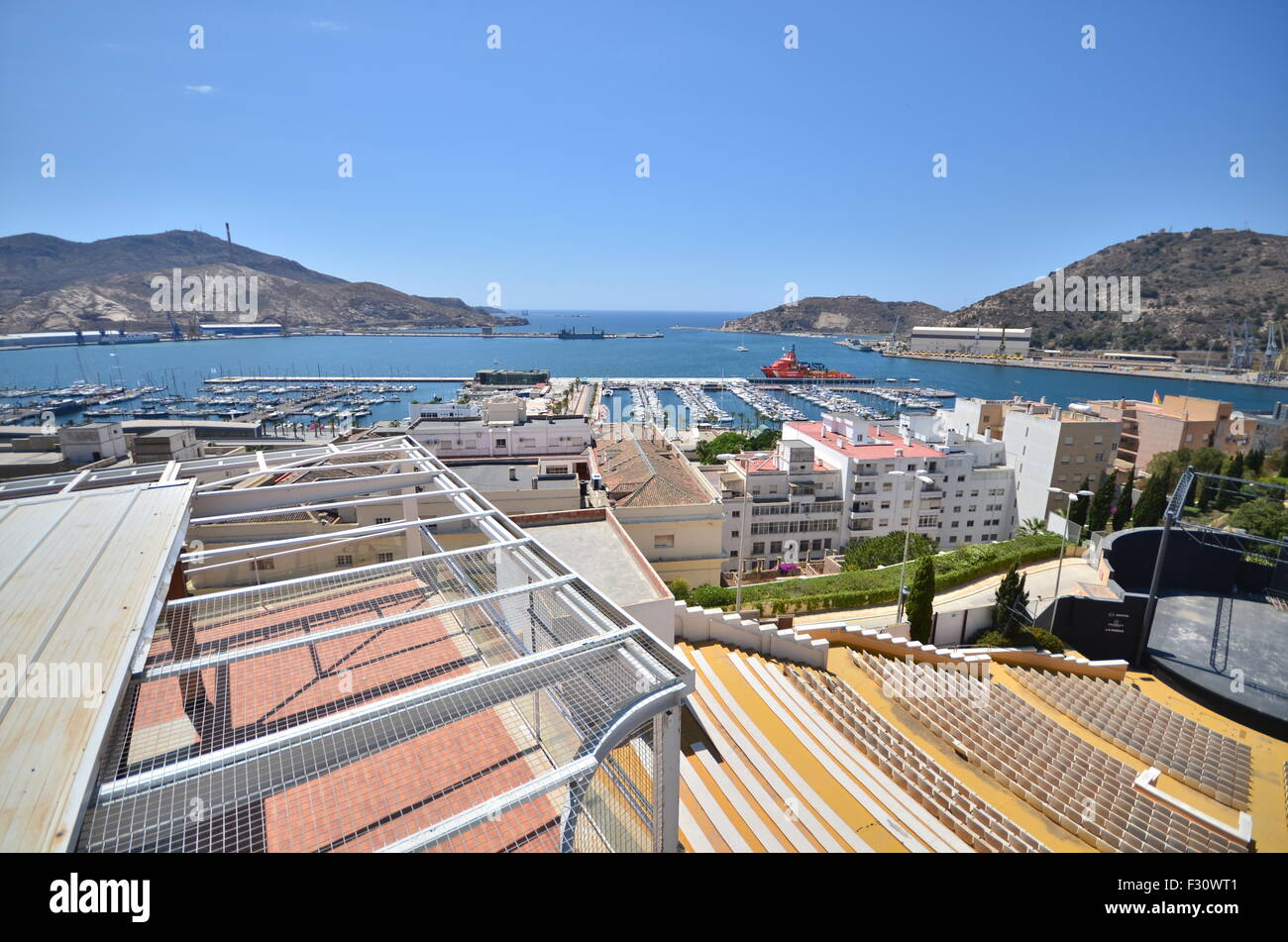 Cartagena port. view from the castle Stock Photo