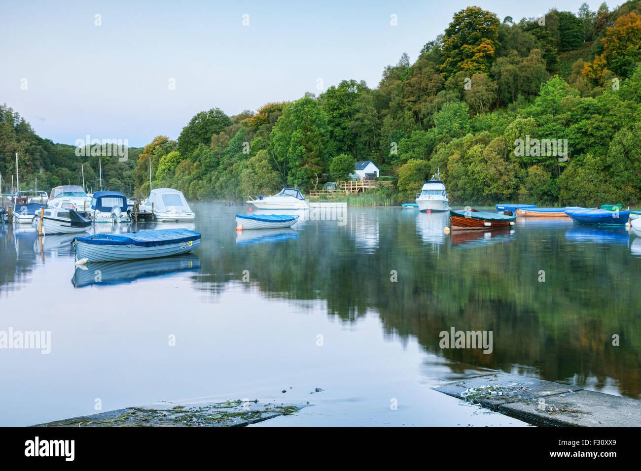 Harbour at Balmaha, Loch Lomond, Stirlingshire, Scotland, UK. - Stock Image