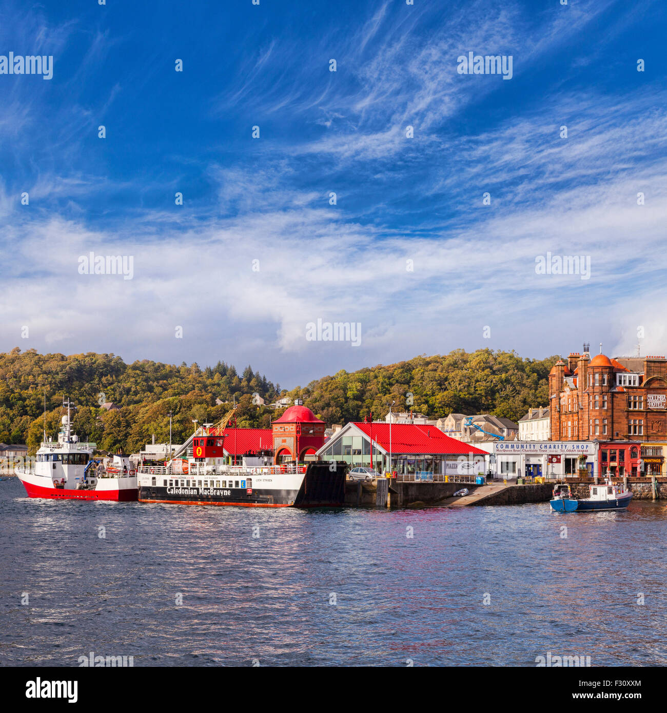 Oban Harbour, Argyll and Bute, Scotland, UK. - Stock Image