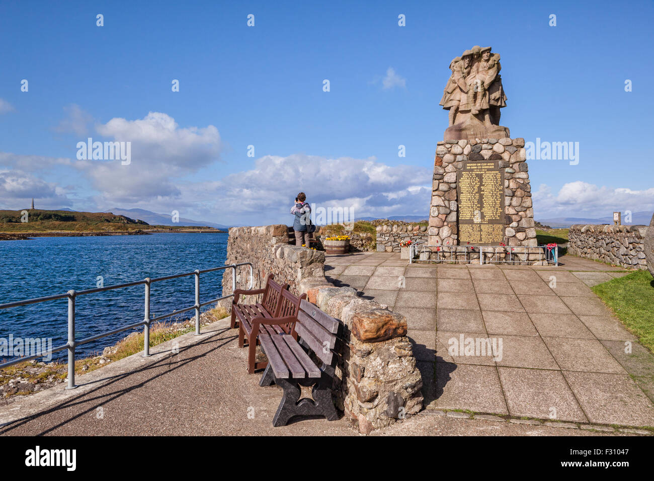 War memorial on the seafront at  Oban, Argyll and Bute, Scotland. - Stock Image
