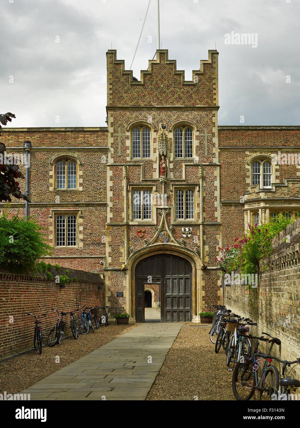 Cambridge University, Jesus College Gatehouse - Stock Image
