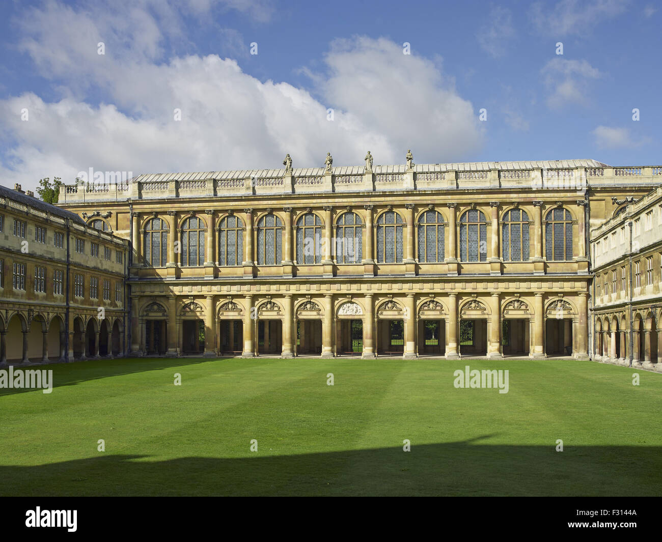 Cambridge, Trinity College, Library in Nevile's court - Stock Image