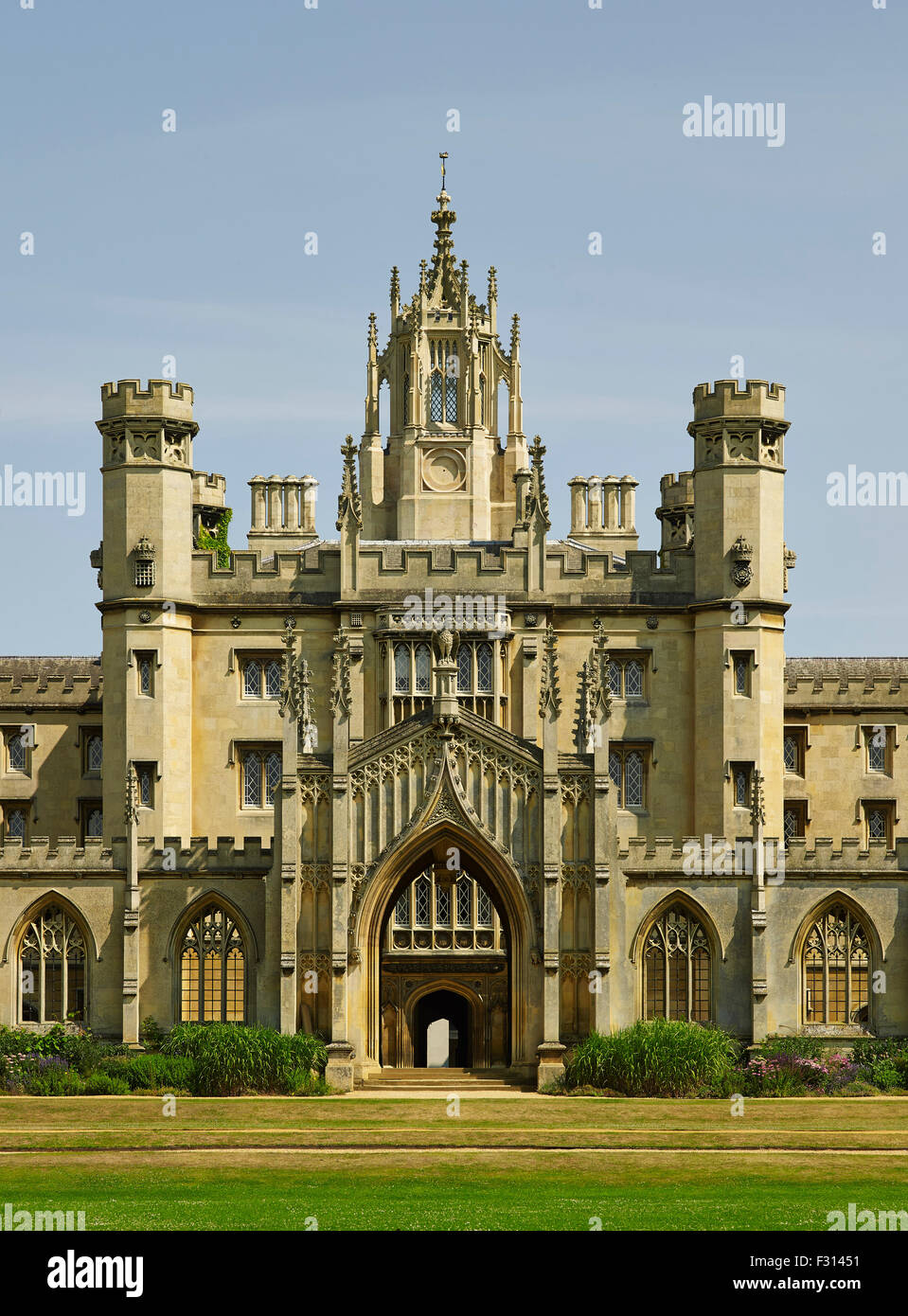 Cambridge, St John's College, New Court, entrance screen Stock Photo
