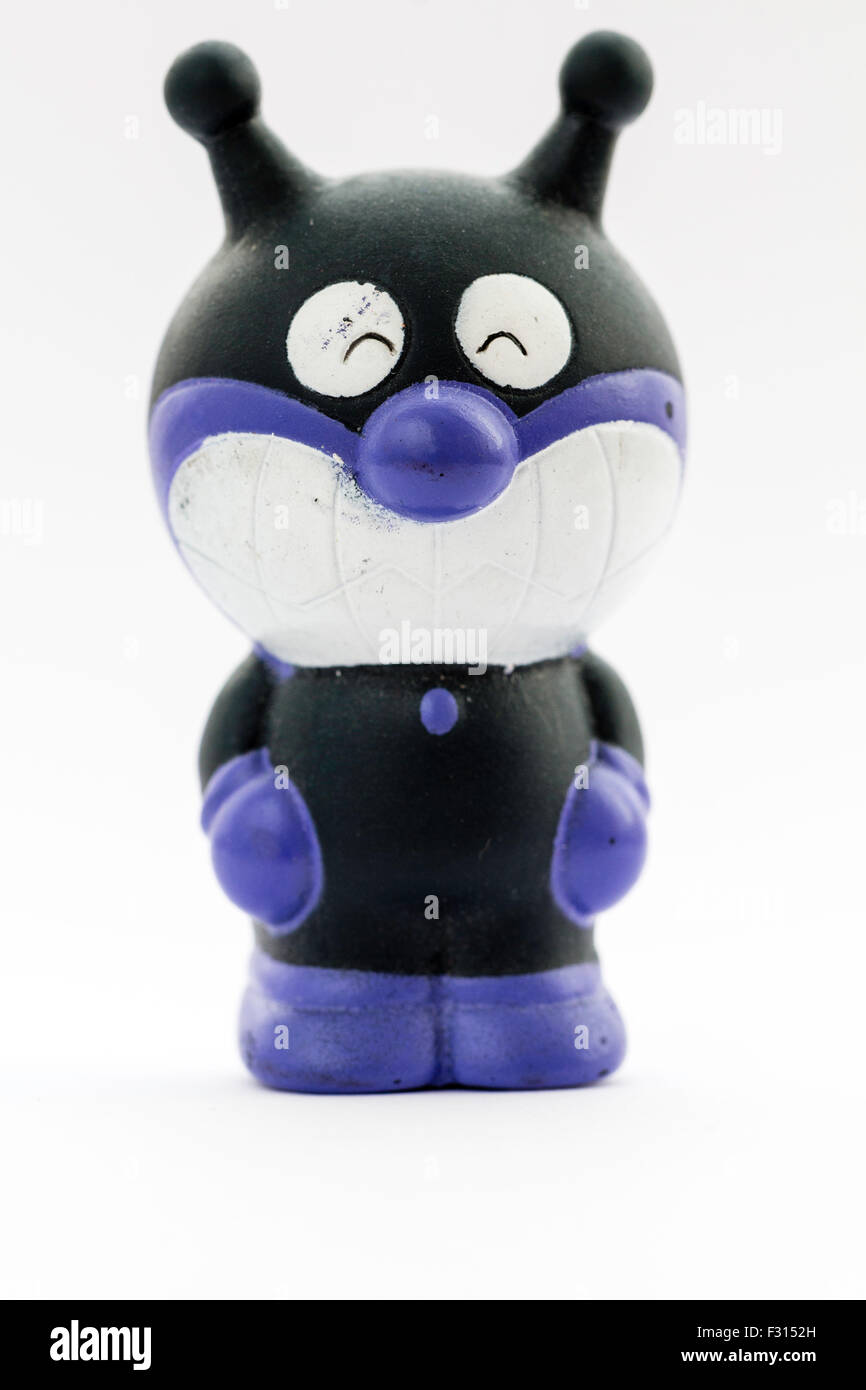 Baikinman, Bacteria Man, Japanese famous anime character from the Anpanman series. Plastic model - Stock Image