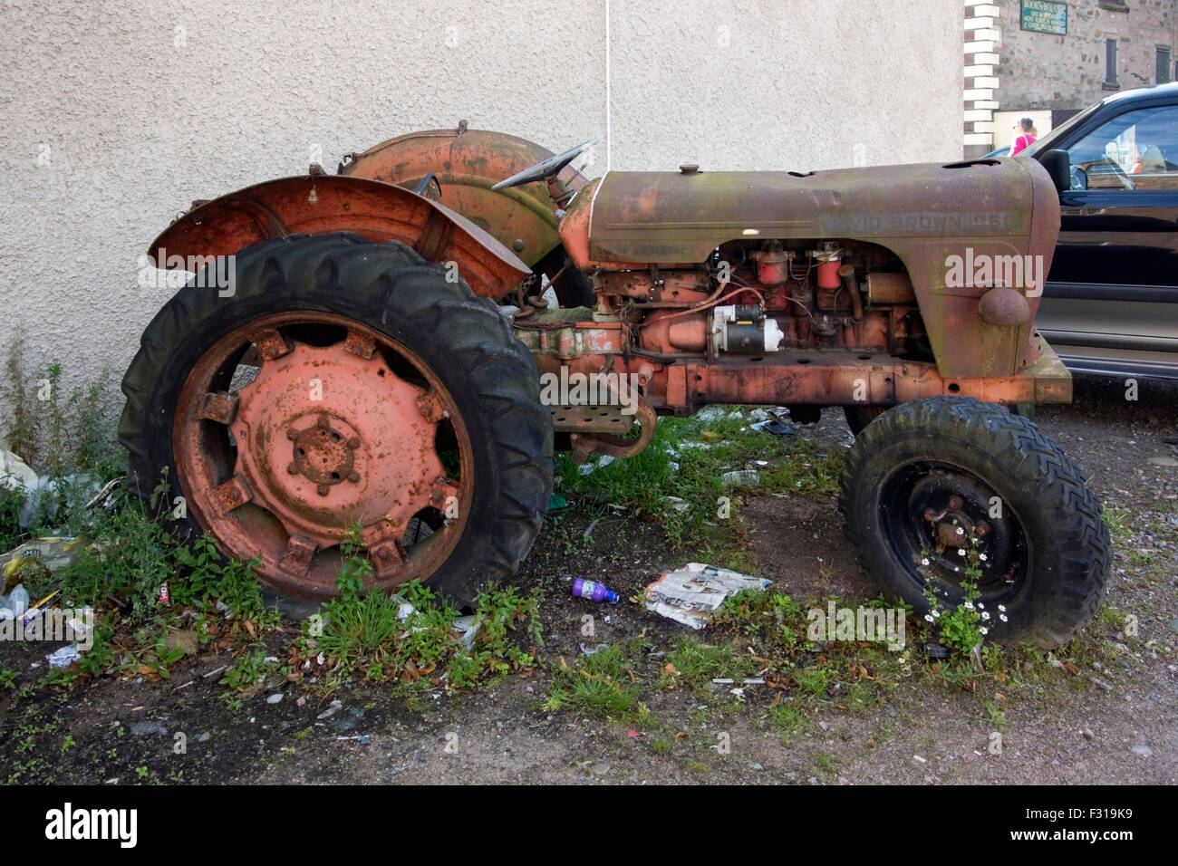 Dilapidated 1960's David Brown 950 Model Tractor - Stock Image