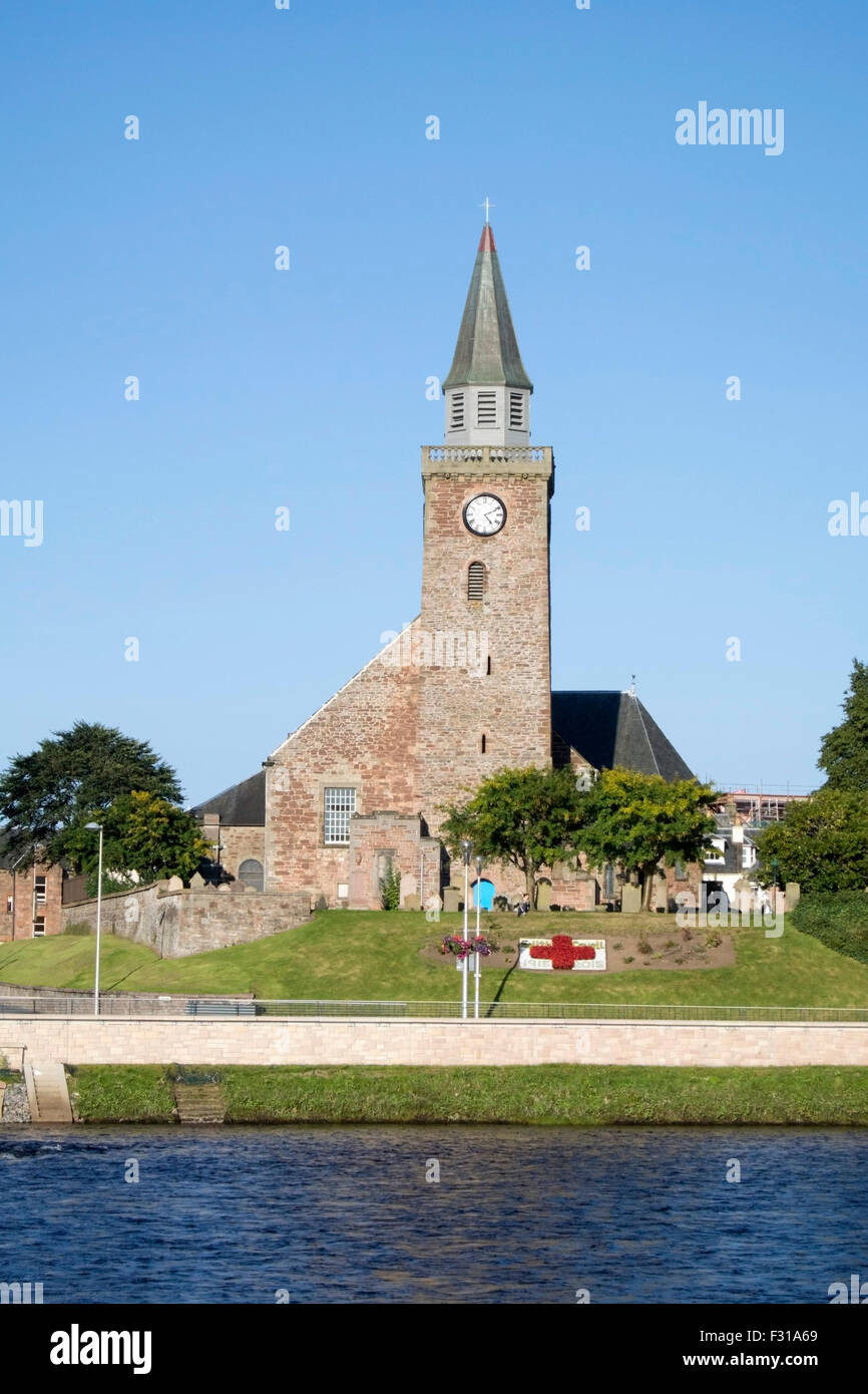 Old High St Stephens Church Bank Street Inverness - Stock Image