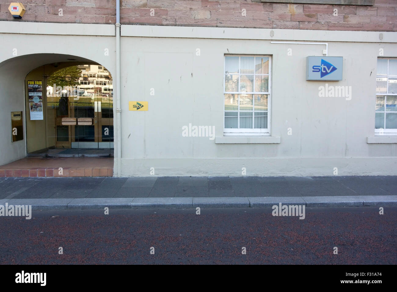 Scottish Television STV Broadcaster's Premises Huntly Street Inverness - Stock Image