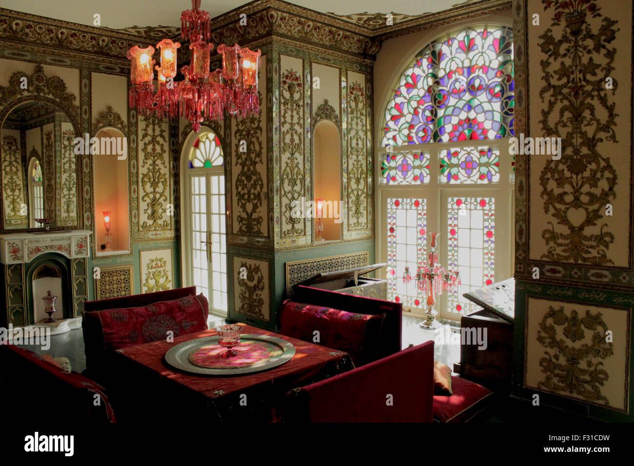 Interior Design Of Niavaran Palace Tehran Iran