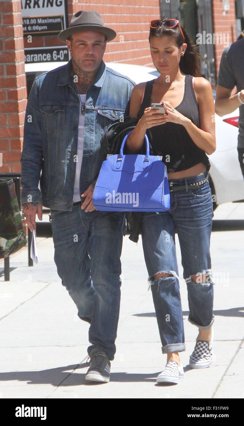 Crazy Town frontman Shifty Shellshock goes shopping in Beverly Hills with a female companion  Featuring: Shifty Stock Photo