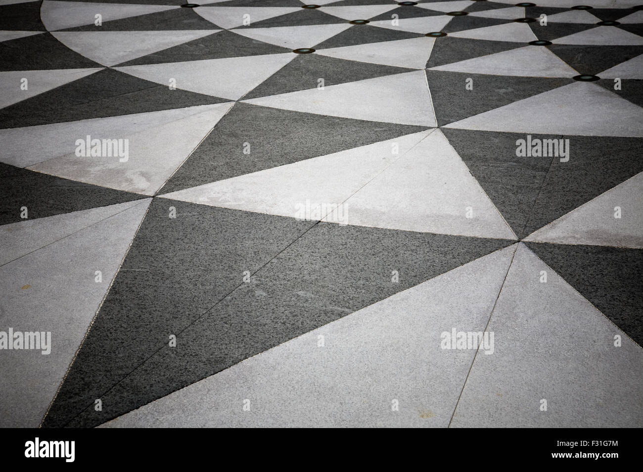 Black And White Triangle Floor Tile Stock Photos & Black And White ...