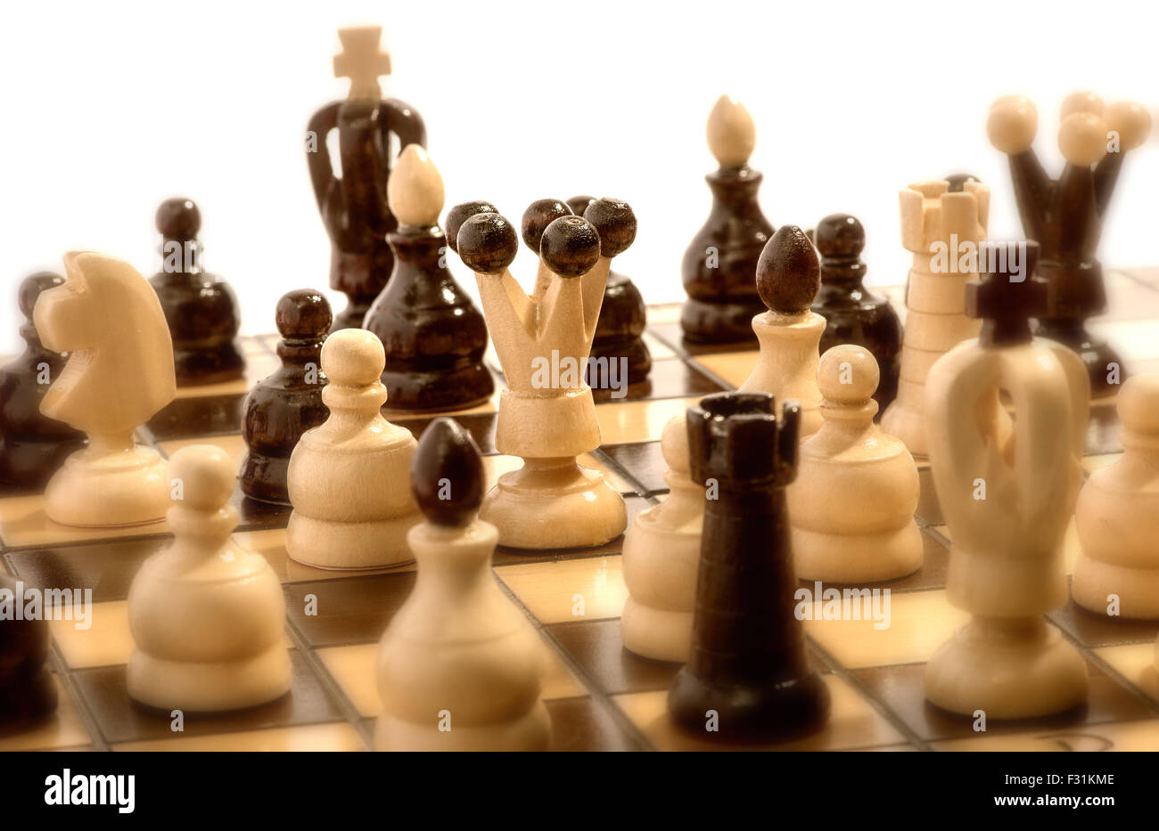 Chess match in progress - Stock Image