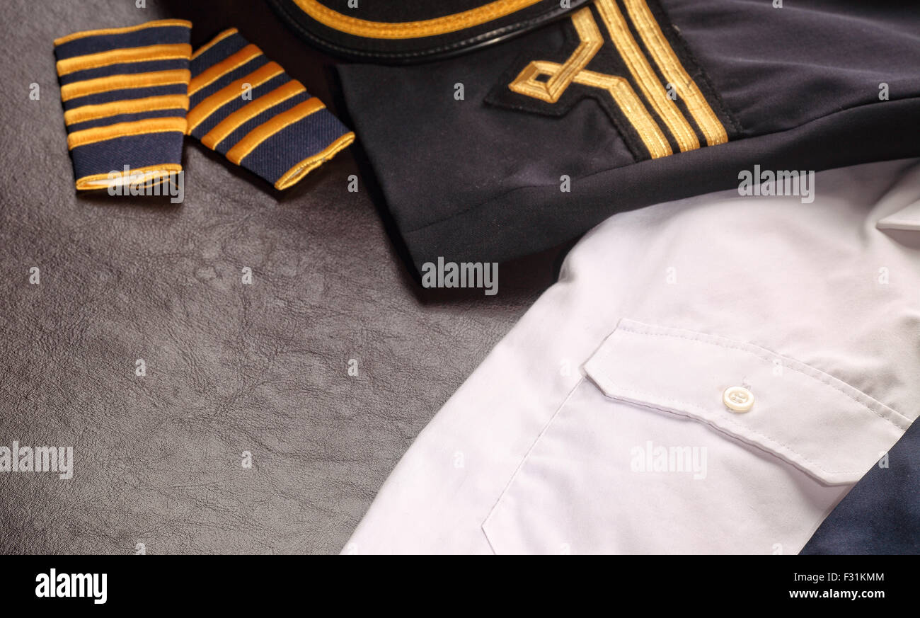 pilot and uniform - Stock Image