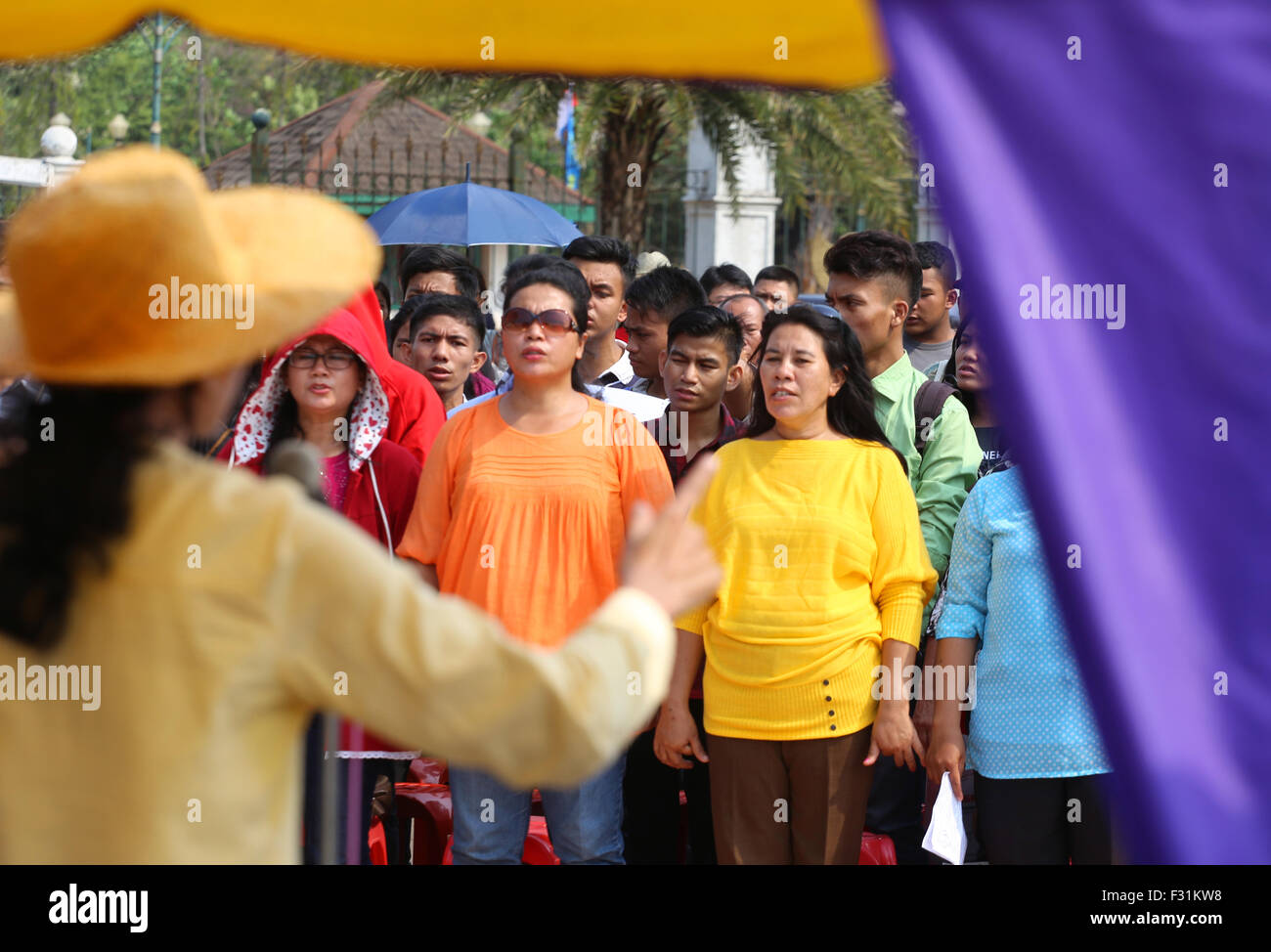 Bekasi, Indonesia. 27th September, 2015. day of the week the 100th time the church two churches legitimate, GKI - Stock Image