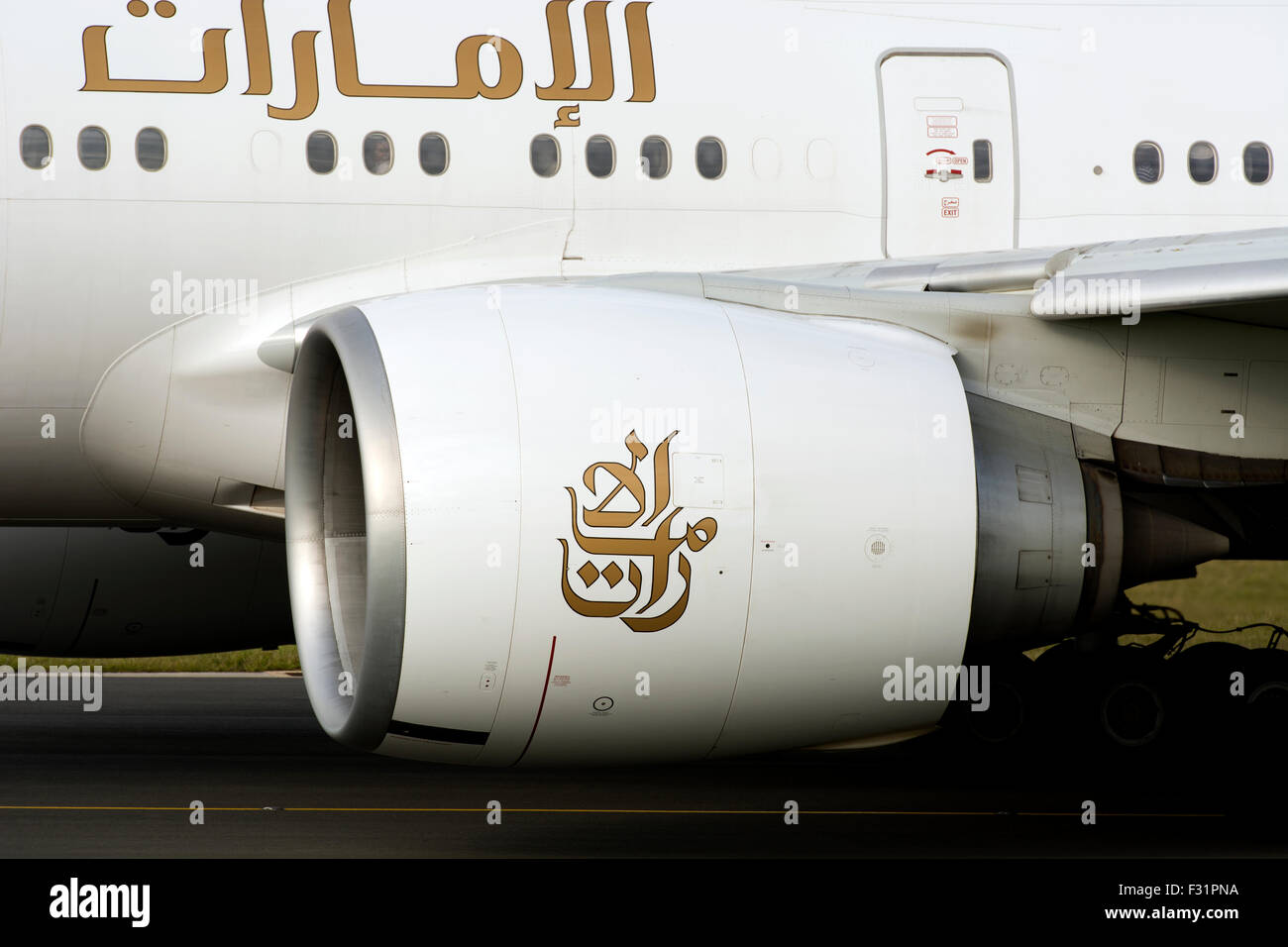 General Electric GE90 jet engine on an Emirates Boeing 777 (A6-EBO ...