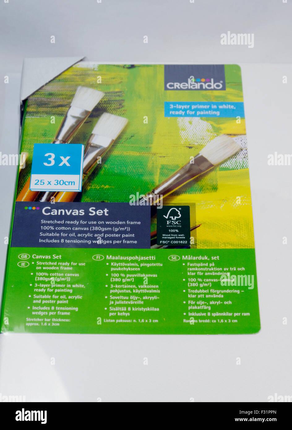 Artists Canvas set. - Stock Image