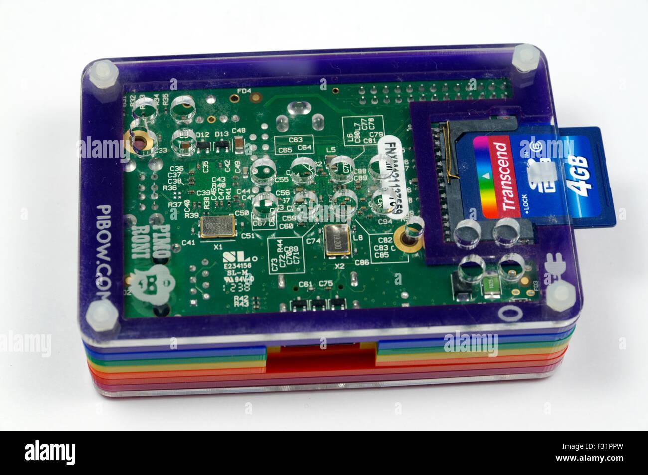 Raspberry Pi Computer. - Stock Image
