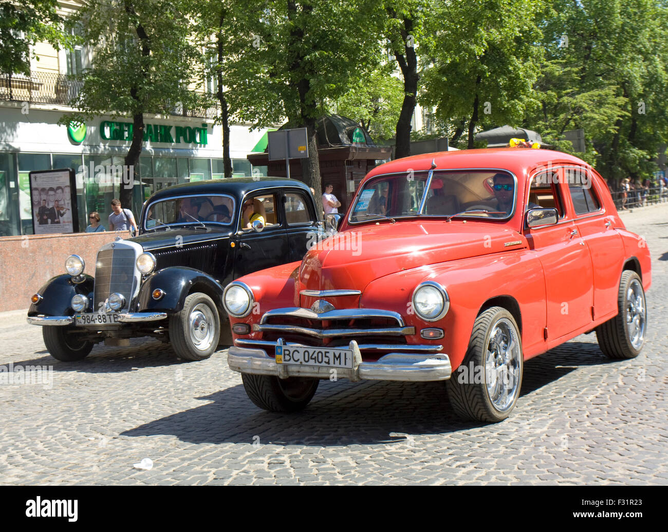 LVOV, UKRAINE - MAY 11: old retro Ukrainian-Russian car Zaporozhets ...