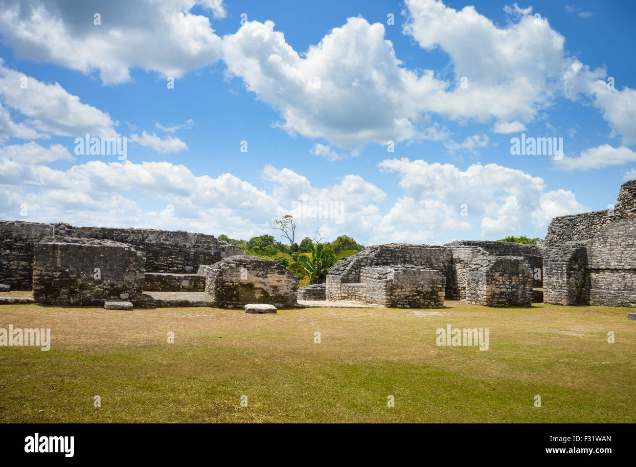 Caracol archaeological site of Maya civilization in Western Belize - Stock Image