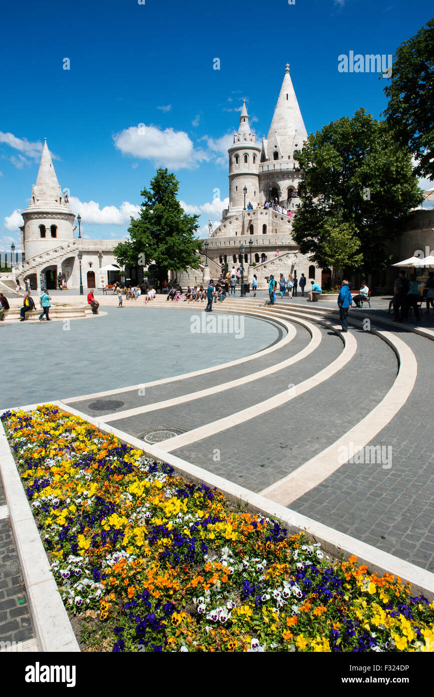 Fisherman's Bastion,Castle Hill, Budapest, Hungary - Stock Image