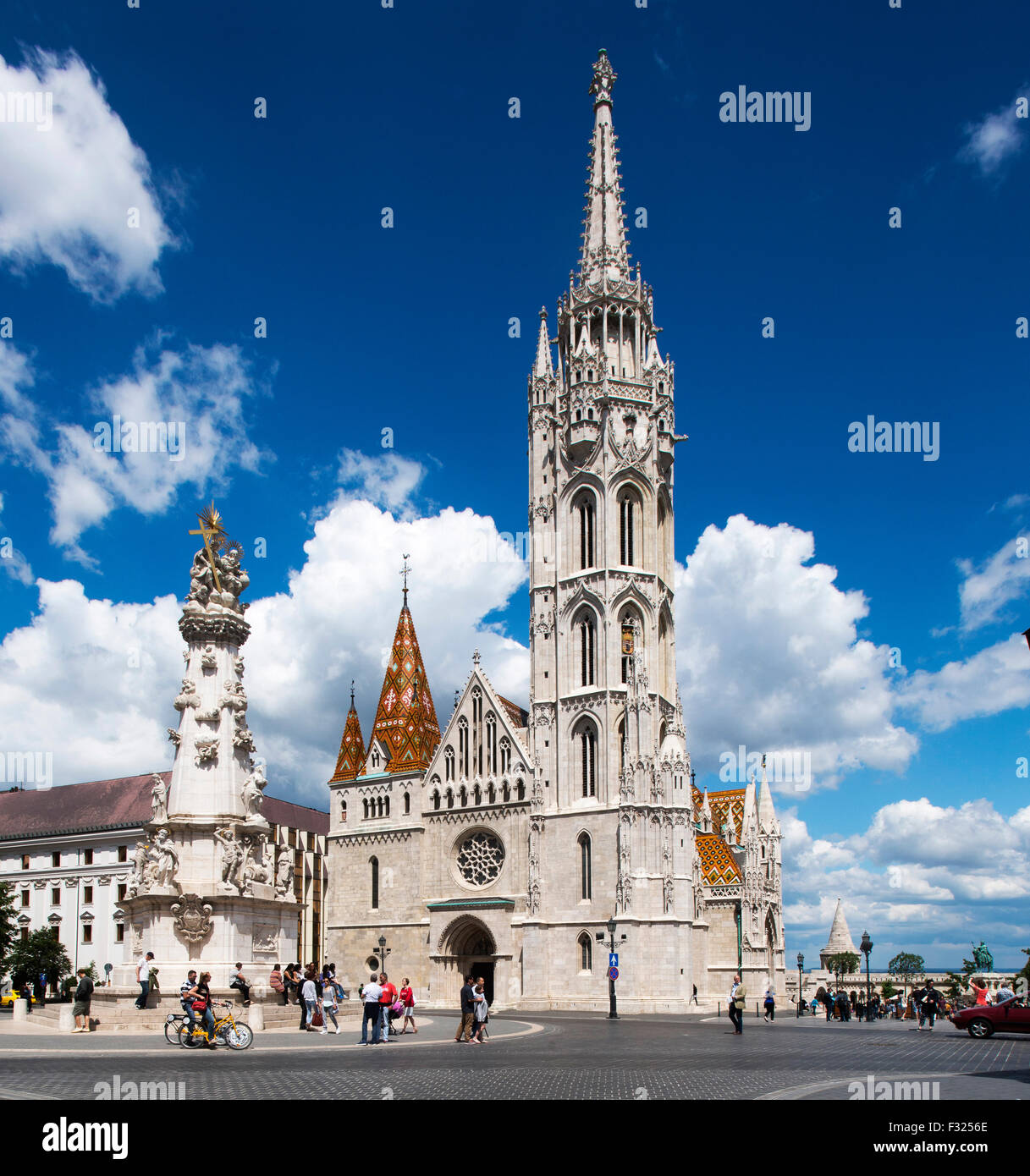 Matyas Church, Castle District, Budapest, Hungary - Stock Image