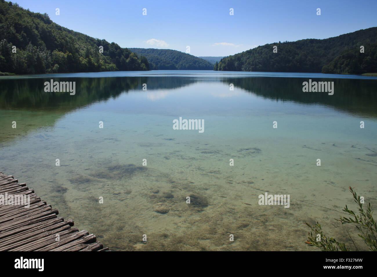 Beautiful clear lake in Croatia  Summer in Europe Stock