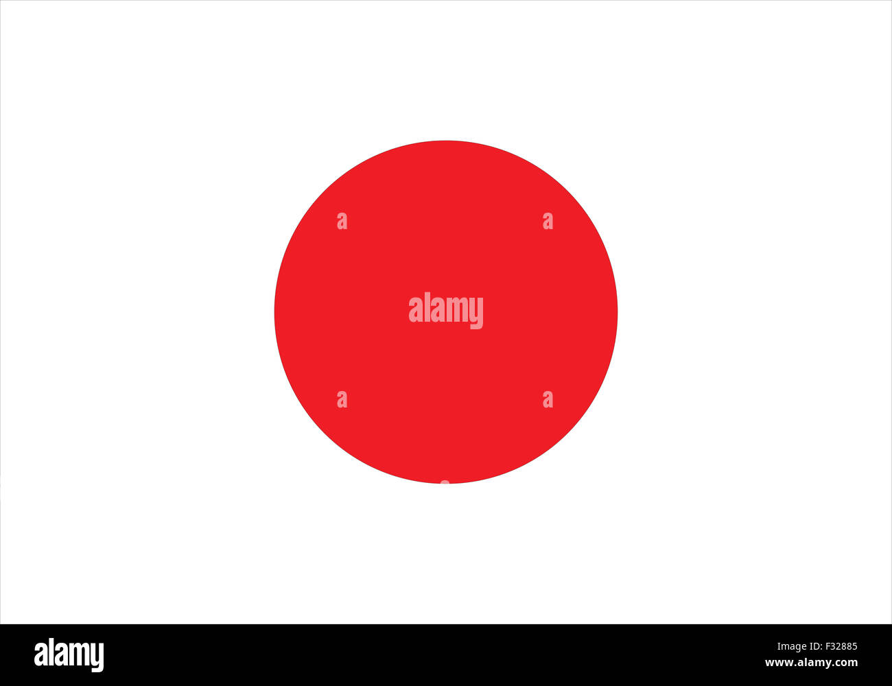 Flag of Japan. Vector illustration of the flag of the Rising Sun Country - Stock Image