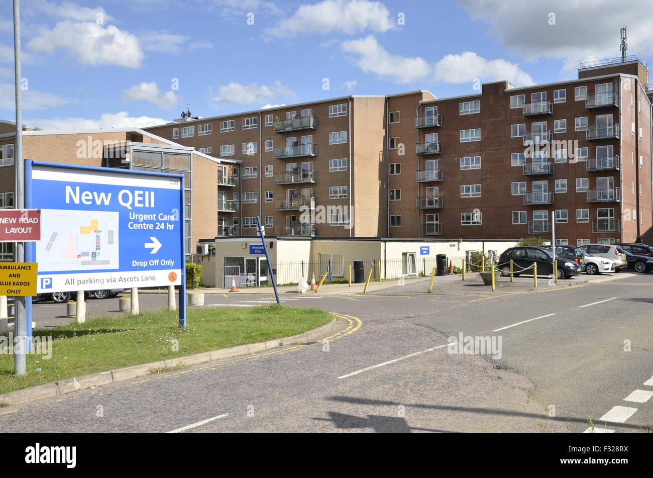 The Queen Elizabeth 2nd Hospital (QE2) In Welwyn Garden City, Hertfordshire    Stock