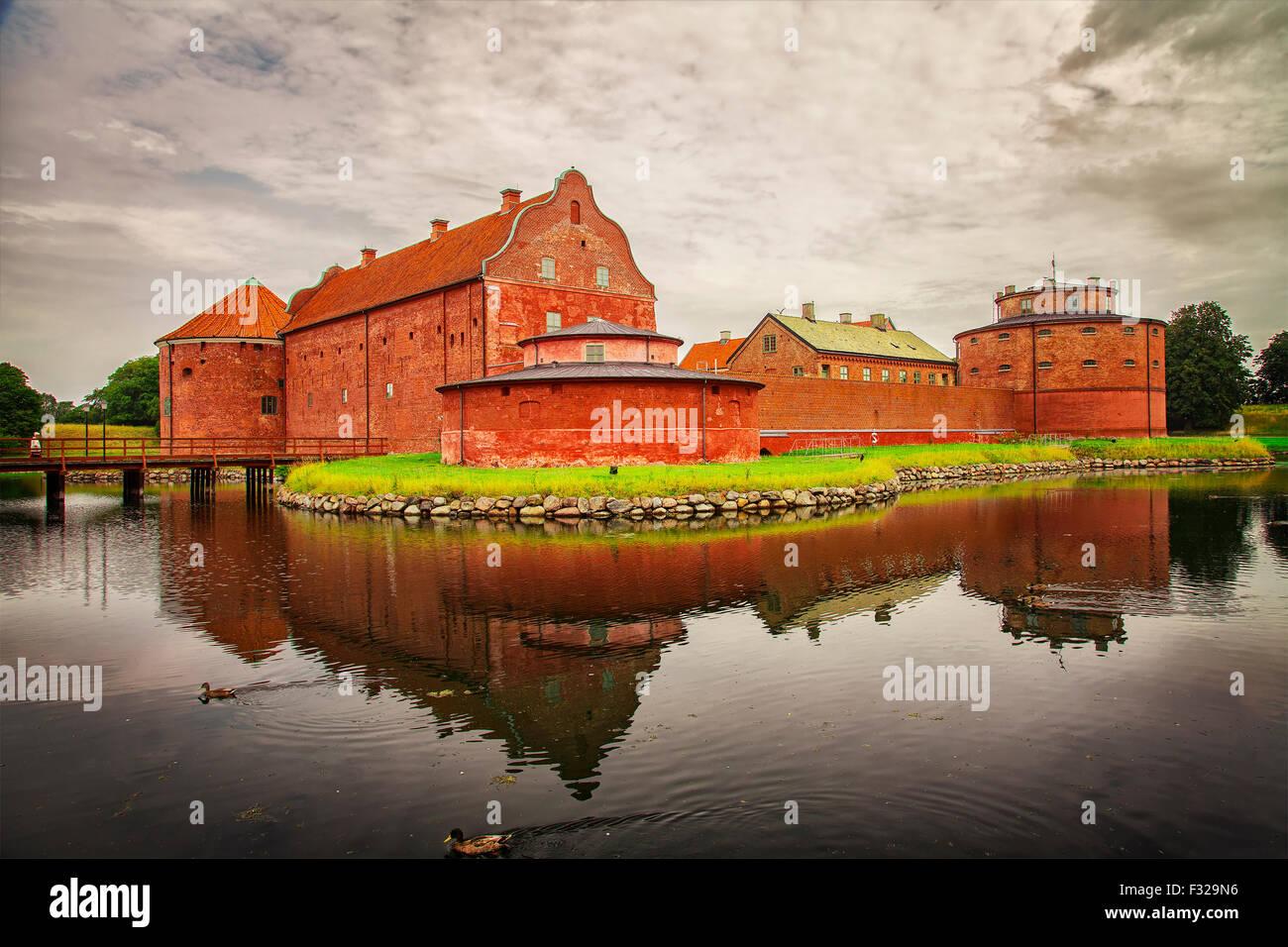 Image of the fortified Landskrona Citadel, built in the 1600s. Skane, Sweden. Stock Photo