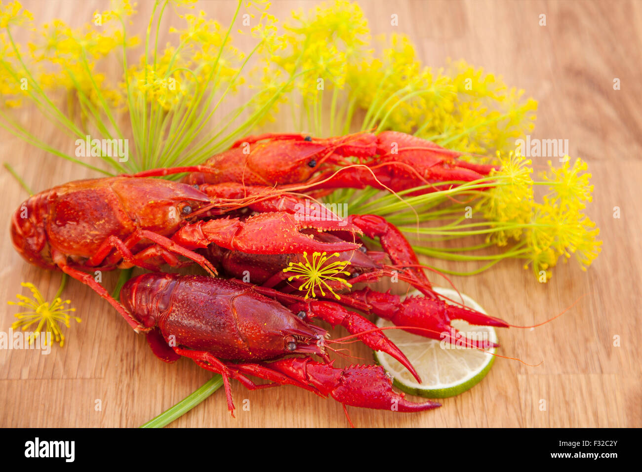 Image of fresh red crayfish. - Stock Image