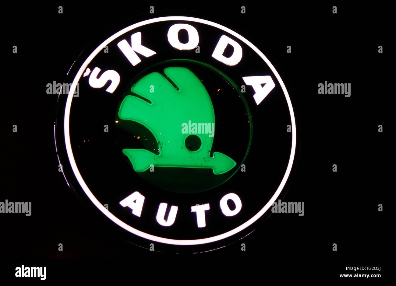 Markenname: 'Skoda', Berlin. - Stock Image