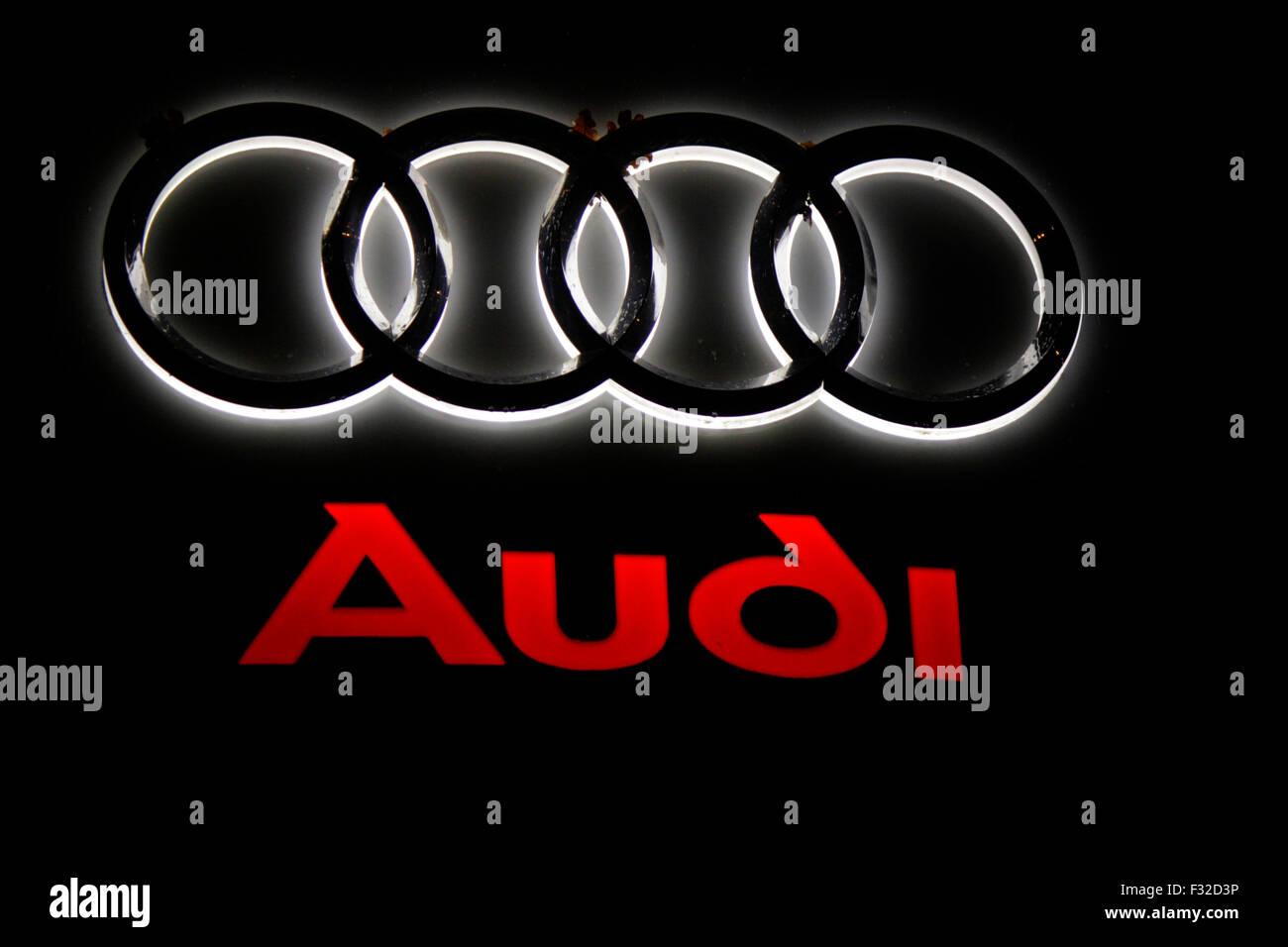Markenname: 'Audi', Berlin. - Stock Image
