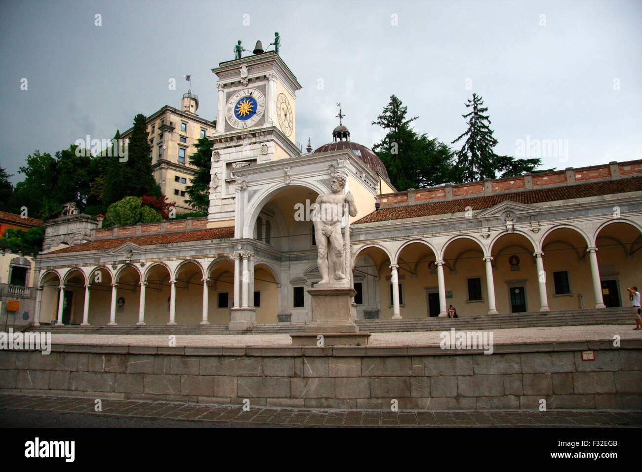 Piazza Liberta - Udine, Italien. - Stock Image
