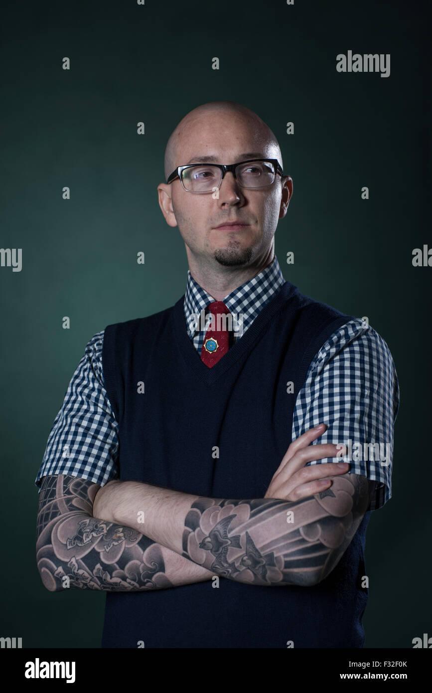 Fiction writer & educator Ryan Gattis. - Stock Image