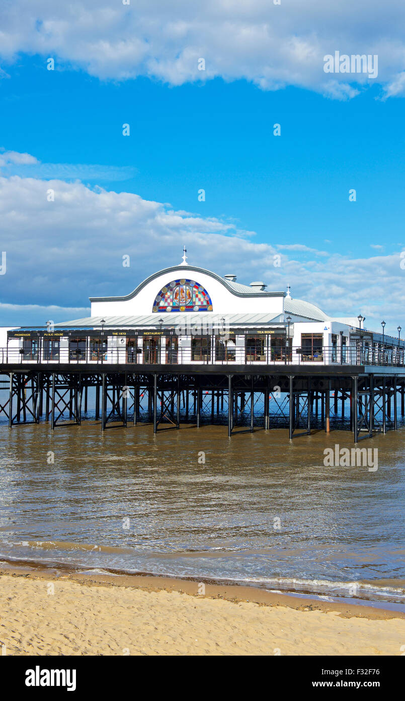 The pier in the seaside resort of Cleethorpes, Lincolnshire, England UK - Stock Image