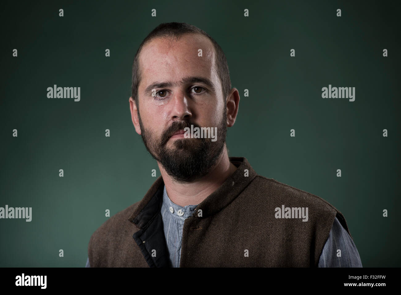 Travel writer and ecologist Piers Moore Ede. - Stock Image