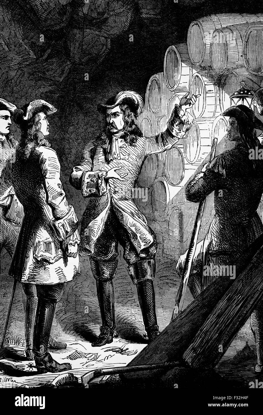 The  Marquis d'Asfeldl, a French Marshal  and a major role player in the War of Spanish Succession. In the seige - Stock Image