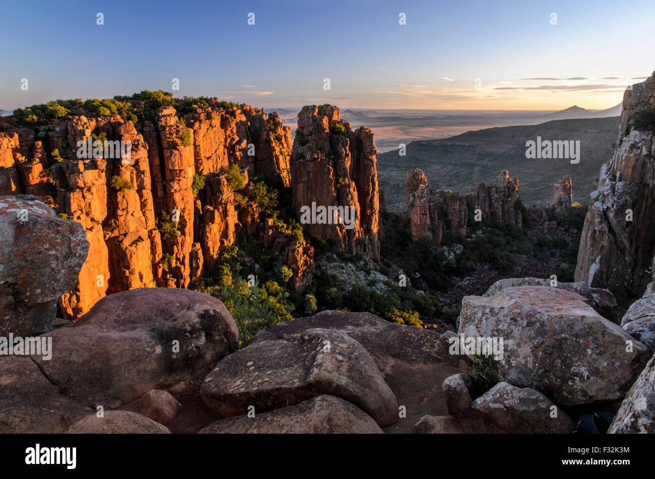 View from Valley of Desolation viewpoint - Stock Image