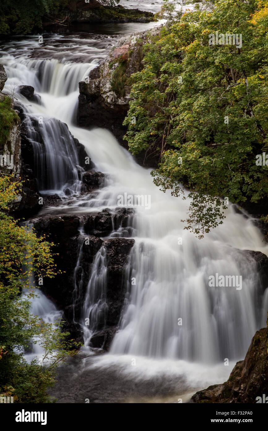 Reekie Linn, Glen Isla, Angus, Scotland, UK, 28th September 2015. UK Weather: Late Autumn afternoon at Reekie Linn Stock Photo