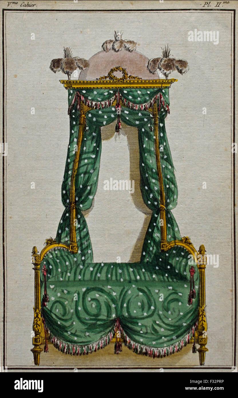 Fashion News Cabinet des Modes 1785-1786 Magasin des Modes Nouvelles Francaises et Anglaises 1786-1789 Journal de Stock Photo