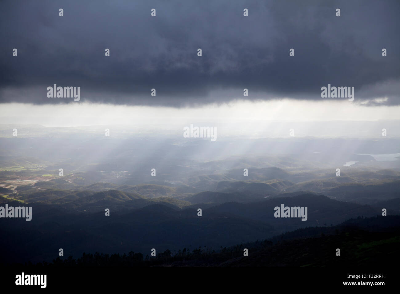 Dramatic landscape, Algarve countryside, Portugal. - Stock Image