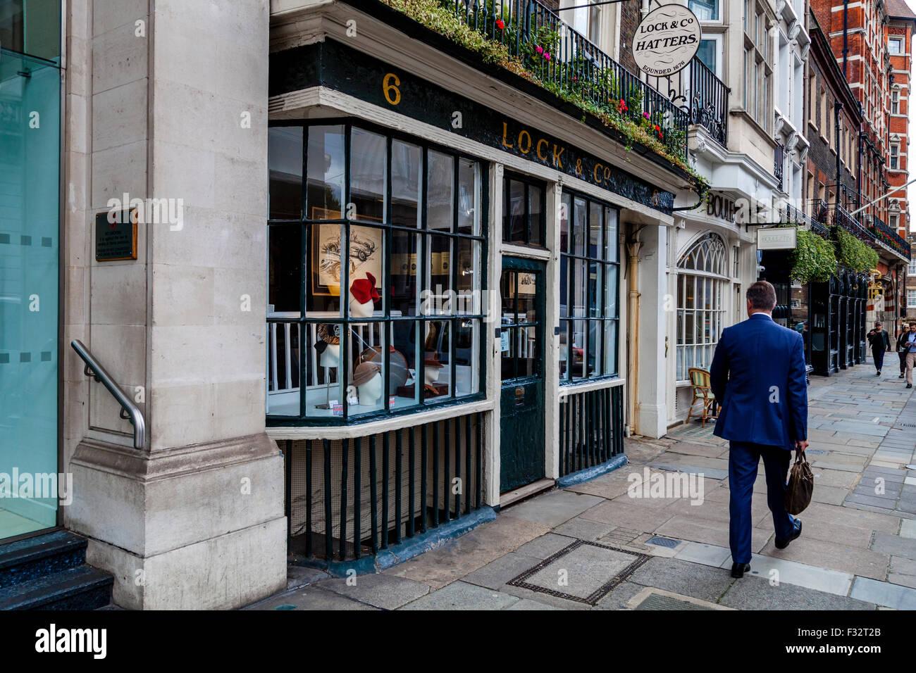 Lock & Co, Hatters, St James Street, London, UK Stock ...