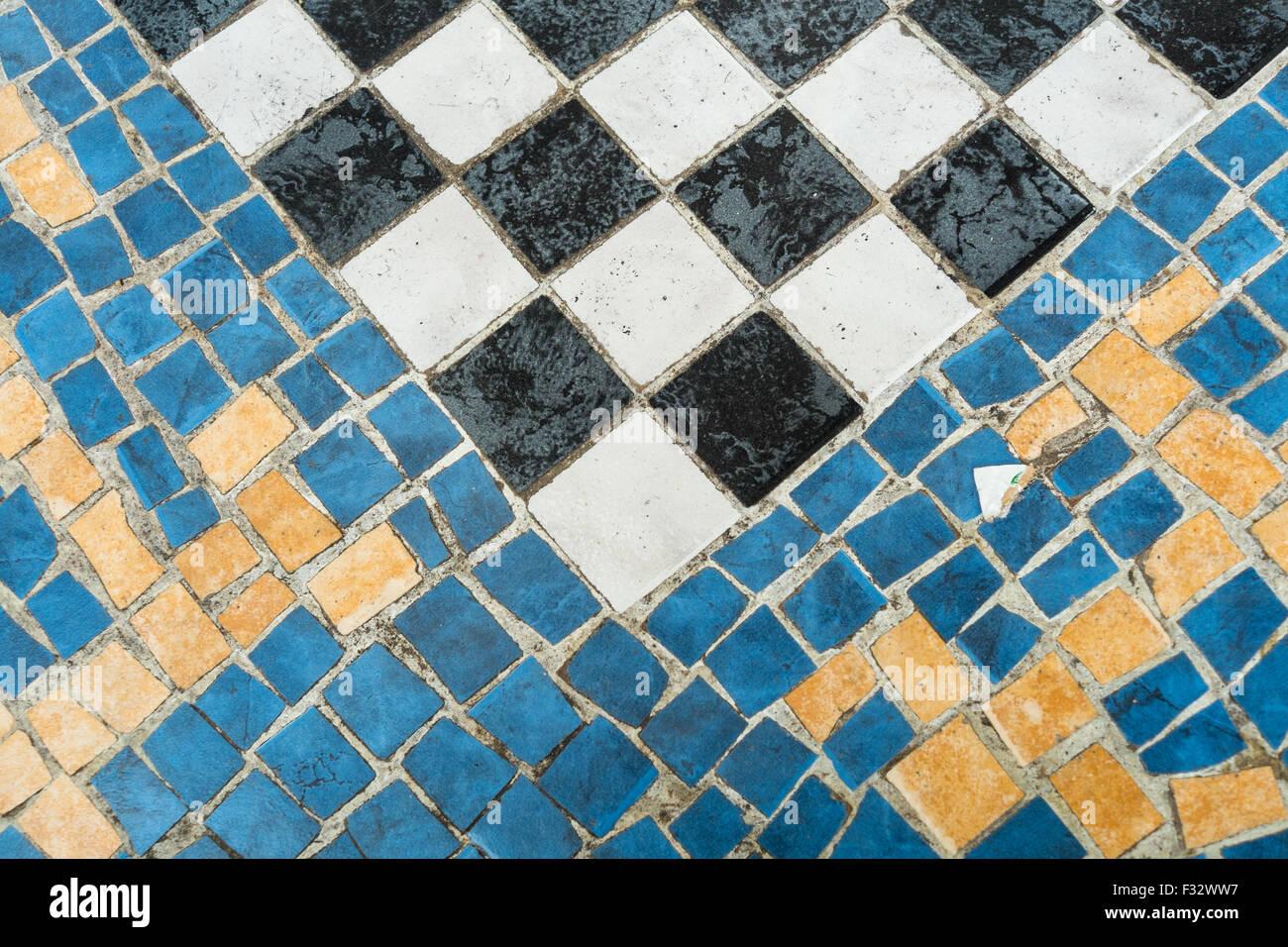 Checkered Mosaic Tile Stock Photos & Checkered Mosaic Tile Stock ...