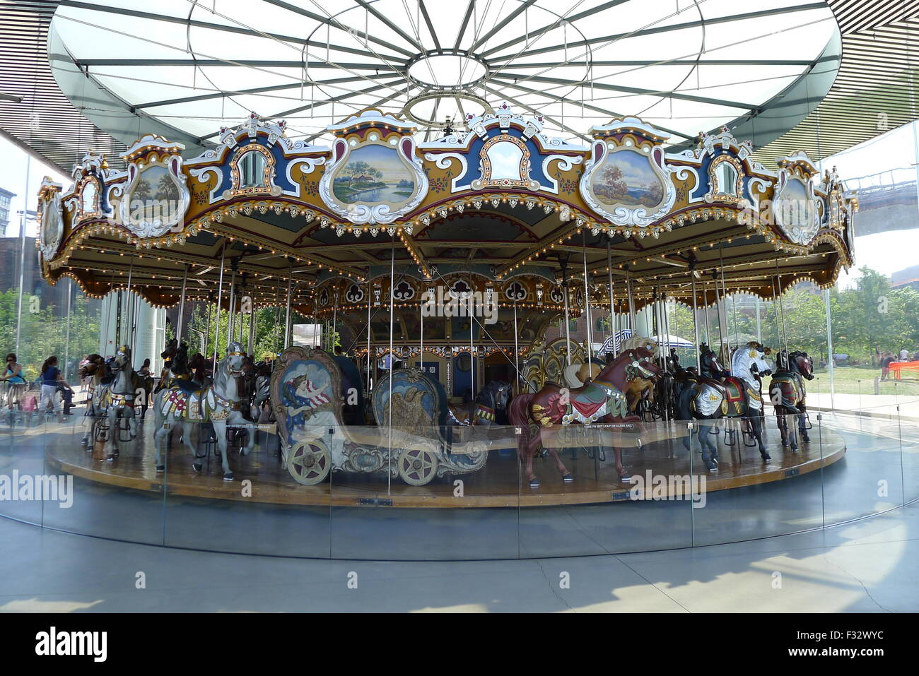Jane's Carousel at Dumbo, Brooklyn, NY - Stock Image