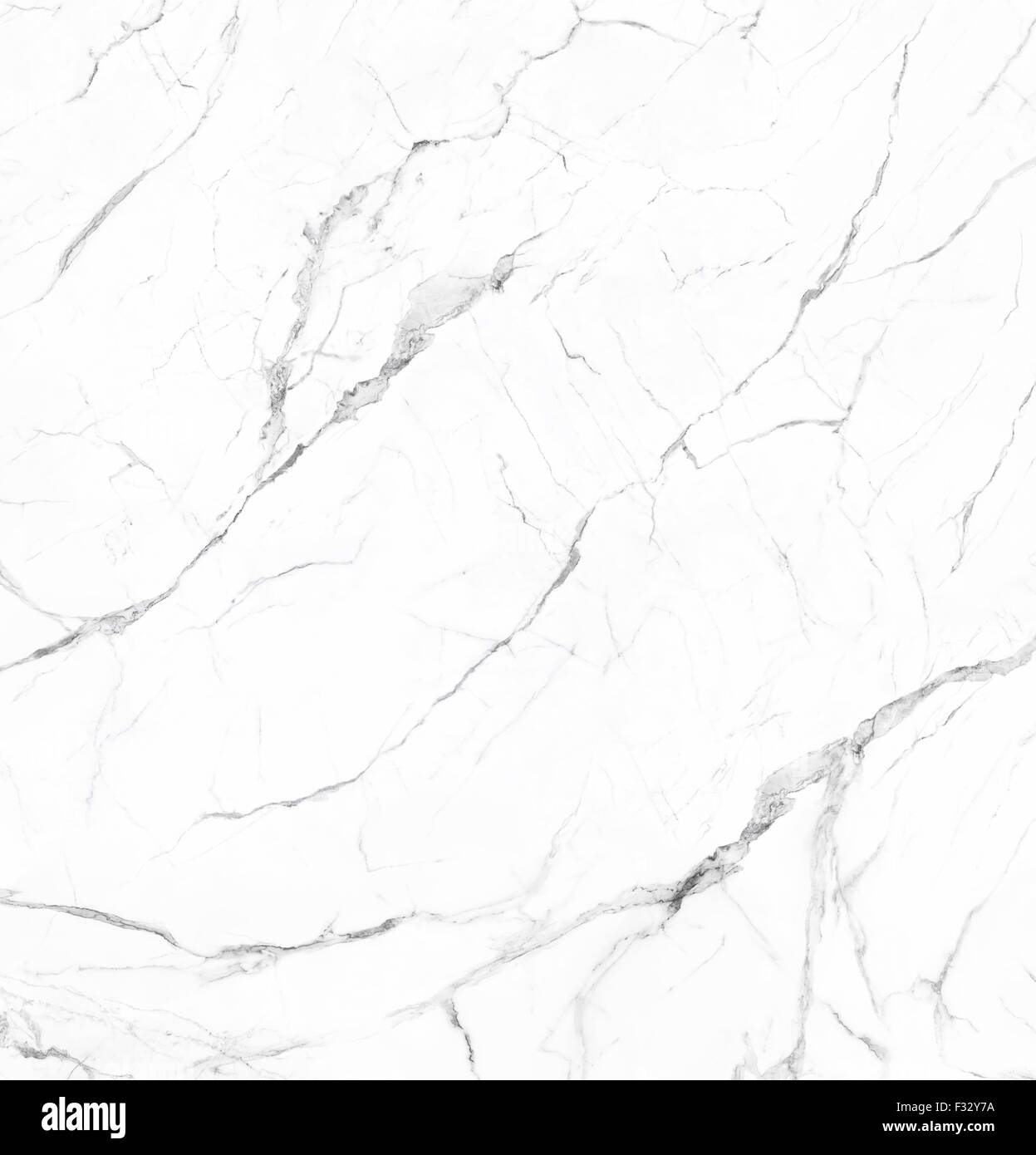 White marble with veins natural stone texture background Stock Photo