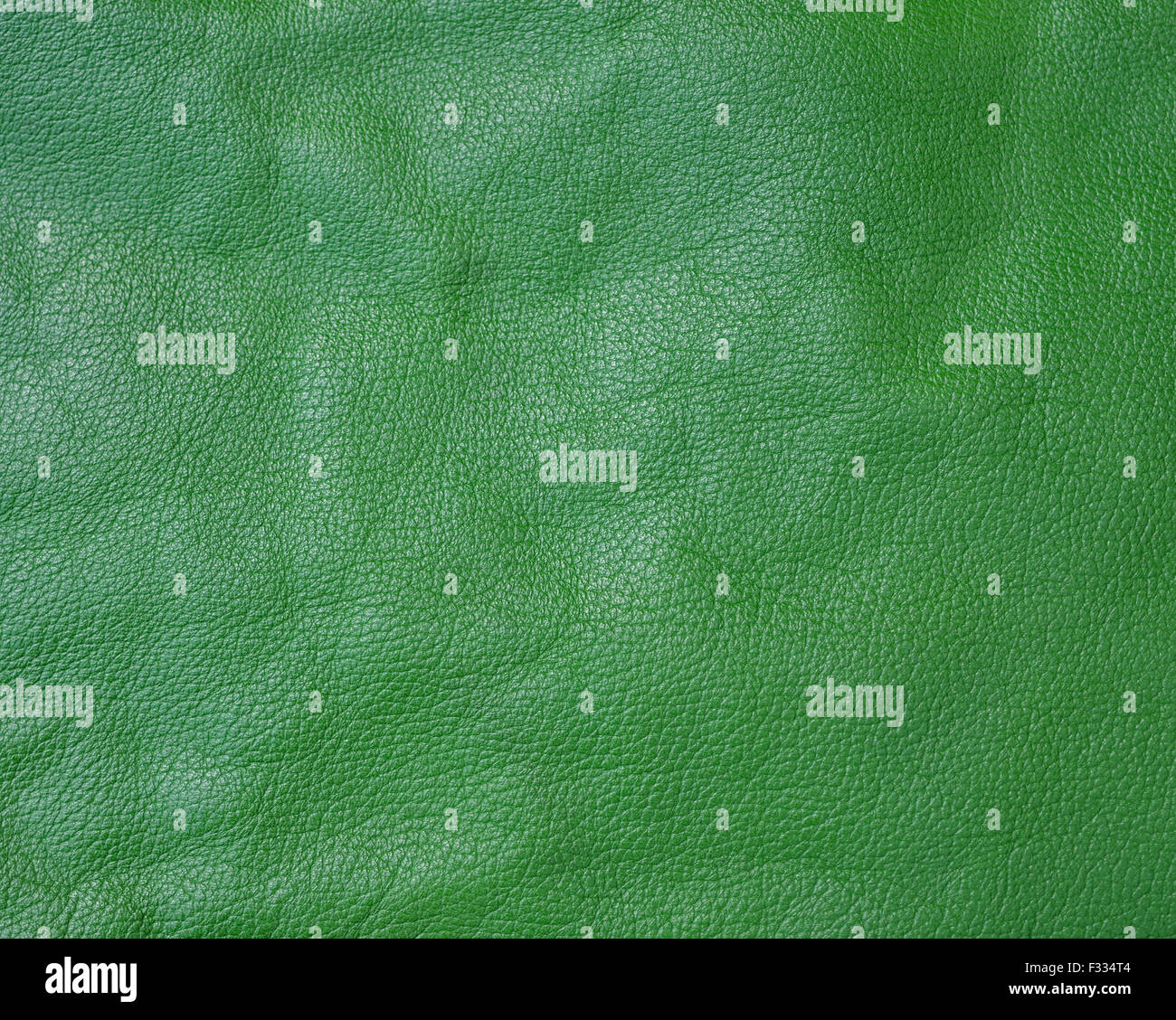 Green genuine leather background - Stock Image