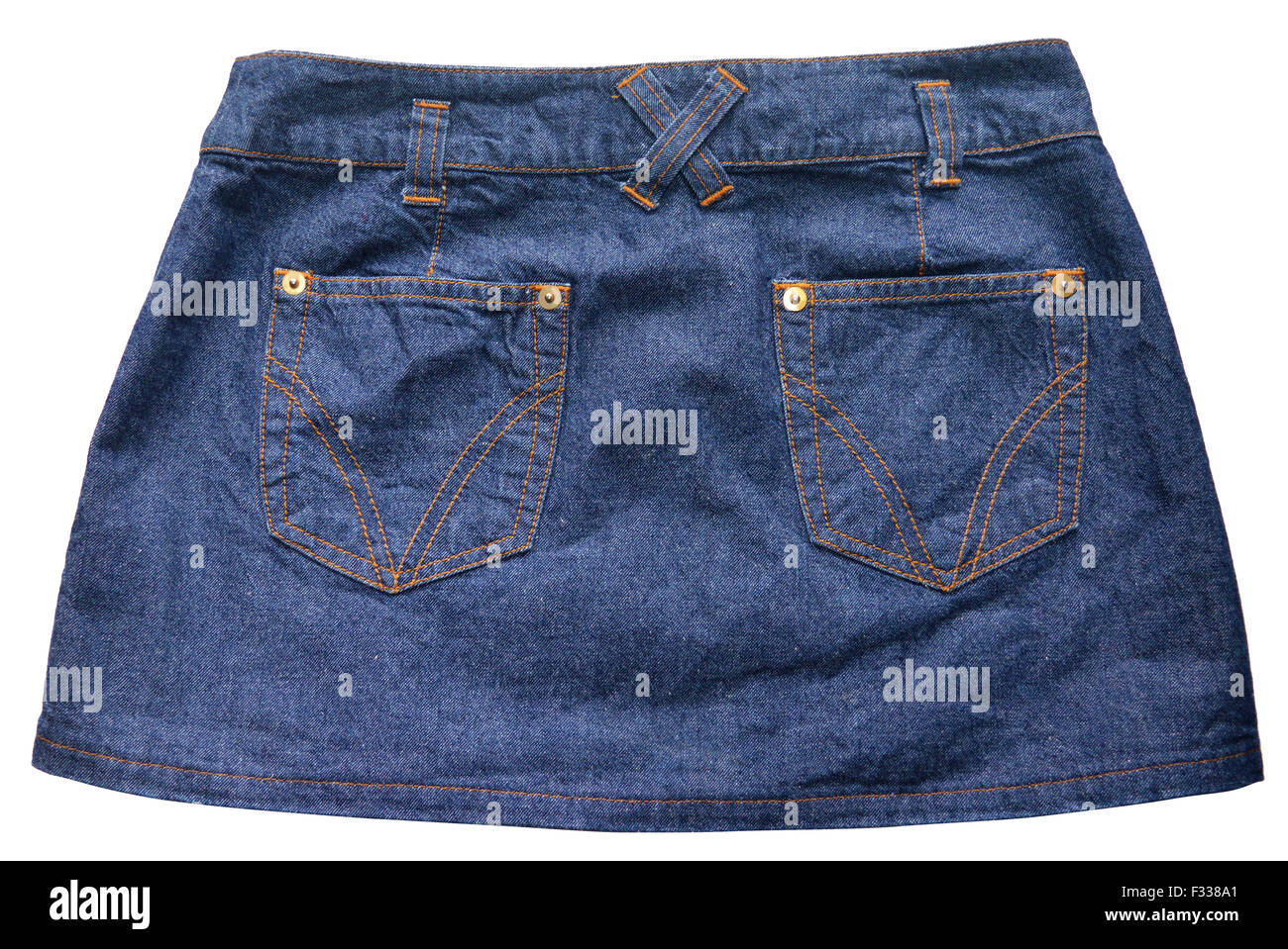 Blue denim skirts Stock Photo