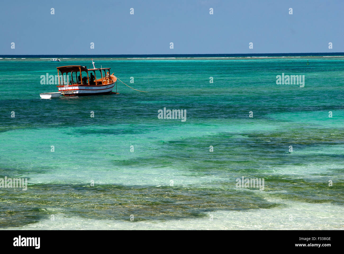 The image of Sea scape was taken in Kavaratti island, Lakshadweep, India - Stock Image